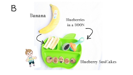 Healthy baby led weaning breakfast by SosiSafe. Food Allergy friendly for peanut free and milk free families.