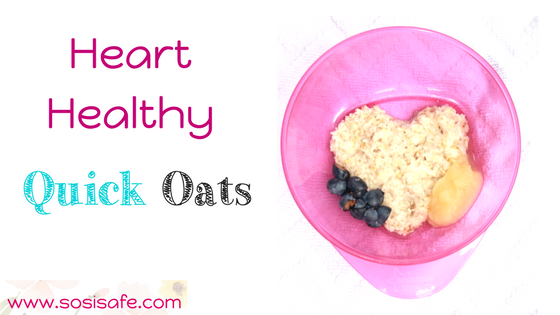 Heart Healthy Oats for a Food Allergy Friendly Breakfast by SosiSafe. Peanut free and Milk Free.