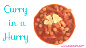 Curry in a Hurry. Peanut free, no dairy, eat clean curry. Delicious, easy, healthy toddler meals