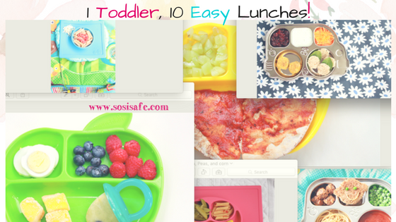 Toddler meals. Toddles lunches that taste and look great!