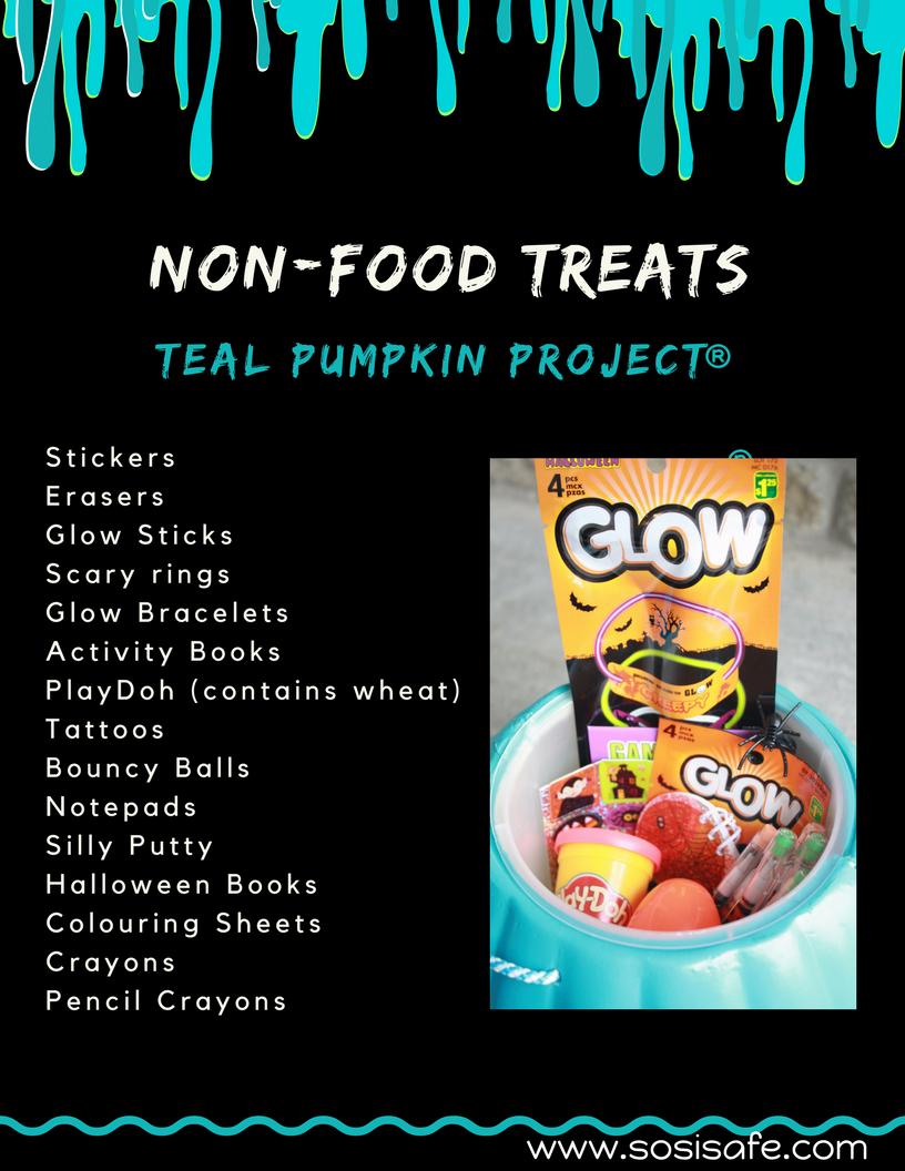 Non Food Treats Halloween Teal Pumpkin Project
