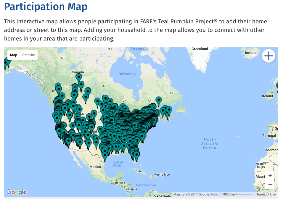 Teal Pumpkin Project® Participation Map