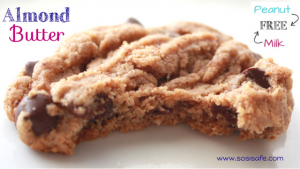 Almond Butter Cookies that are dairy free (VEGAN), with no peanuts!