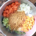 Chicken Noodle Soup Stew dairy free with no peanuts. All natural ingredients your whole family will enjoy.