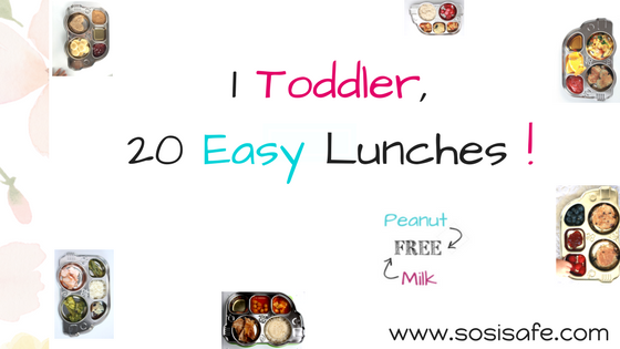 20 Easy Toddler Lunches Peanut free and milk free meals by SosiSafe