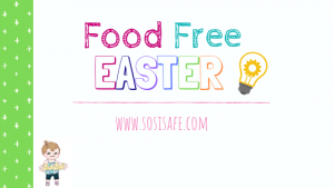 Food Free Easter Ideas with free printable by #sosisafe
