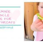 Homemade Popsicle recipe for sore throats