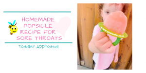 Homemade Popsicle recipe for sore throats