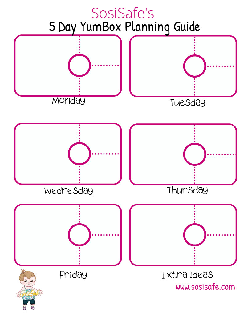 5 Day Lunchbox Planning Guide for Yumbox