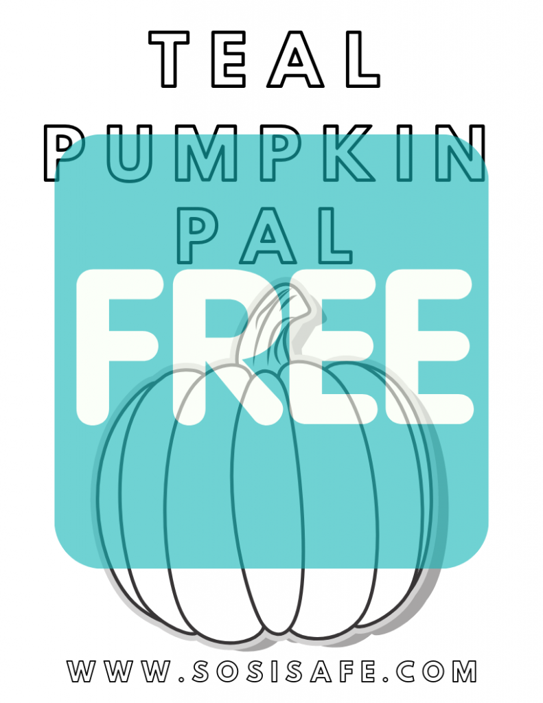 Teal Pumpkin Pal by SosiSafe FREE PRINTABLE