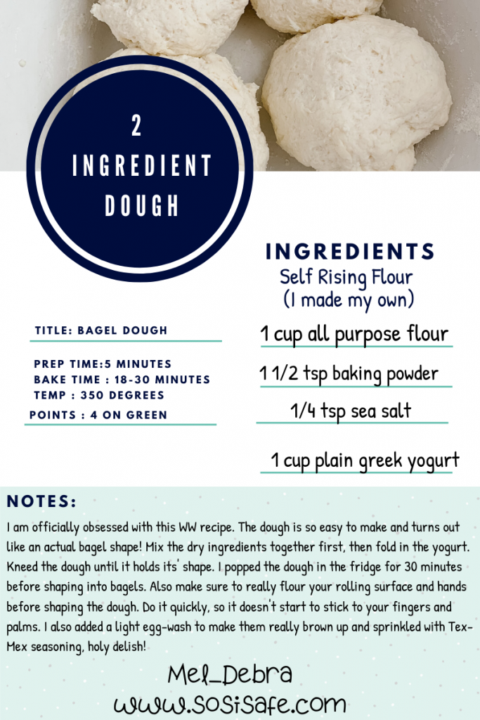 2 ingredient dough recipe for Weight Watchers